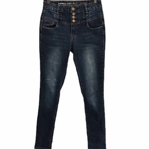 Vienna high waisted jeans skinny button front 9